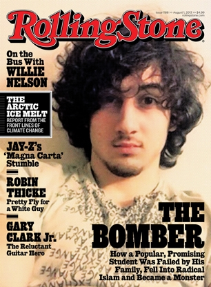 The much-discussed cover of Rolling Stone Magazine.