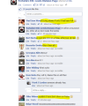 Screenshot from an English Defence League group, from anti-EDL web site EDLnews.