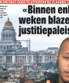 """Headline from Het Laatste Nieuws, 18. May 2013: """"Within a few weeks we will blow up the Law Courts of Brussels""""."""