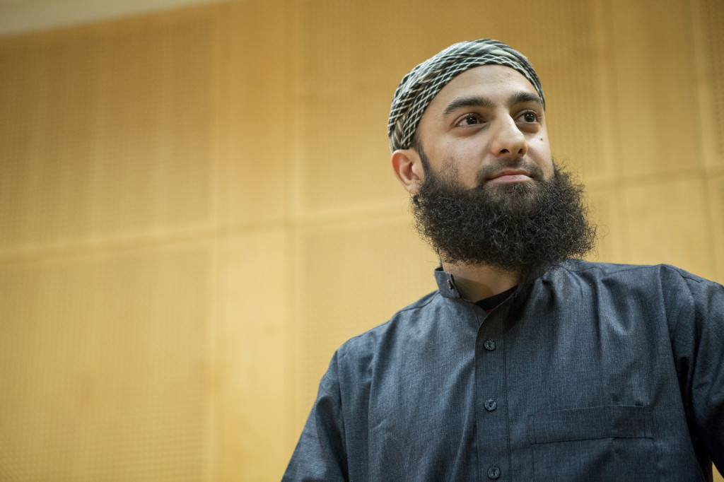 Arslan Ubaydullah Hussain in court (Photo: Thomas Winje Øijord / NTB scanpix)
