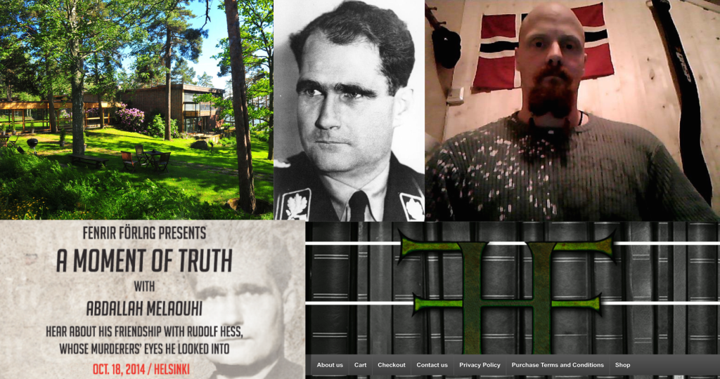 NAZI MEETING: Along with other Norwegian neo-Nazis, convicted murderer Ole Nicolai Kvisler (inset top right) felt drawn to Helsinki to meet the nurse who assisted Rudolf Hess (inset number two from top left), Hitler's top Nazi deputy in the early years of World War II. Photo: RANTAPUISTO HOTEL/PRIVATE/ARCHIVE/SCREEN SHOTS
