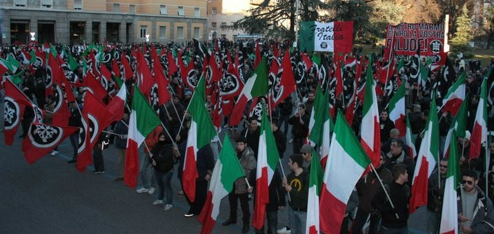 CasaPound demonstration. Photo: Pietro Chiocca. Released into the public domain.