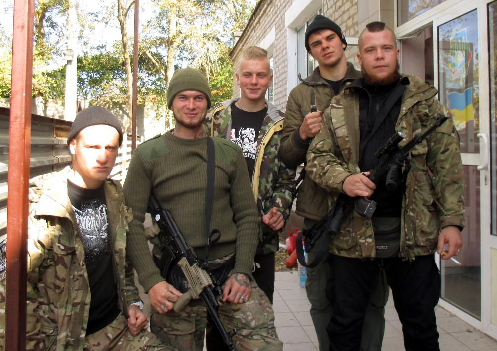 Members of the Azov batallion. Photo: John Færseth.
