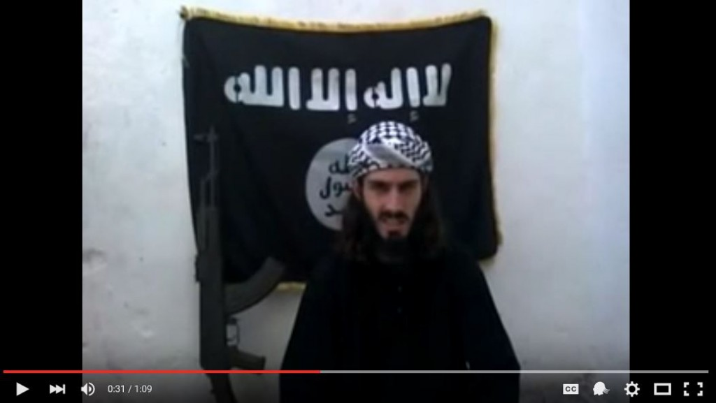 Omar Hammami. Screenshot from a video released on YouTube.