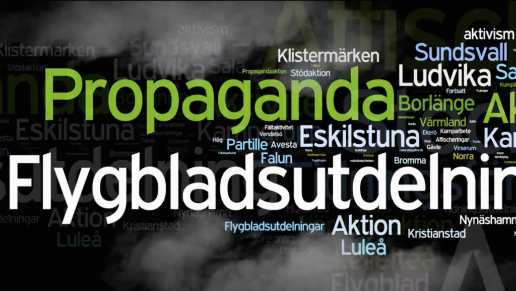 "This is how the Nordic Resistance Movement markets itself in online video ""battle reports""."
