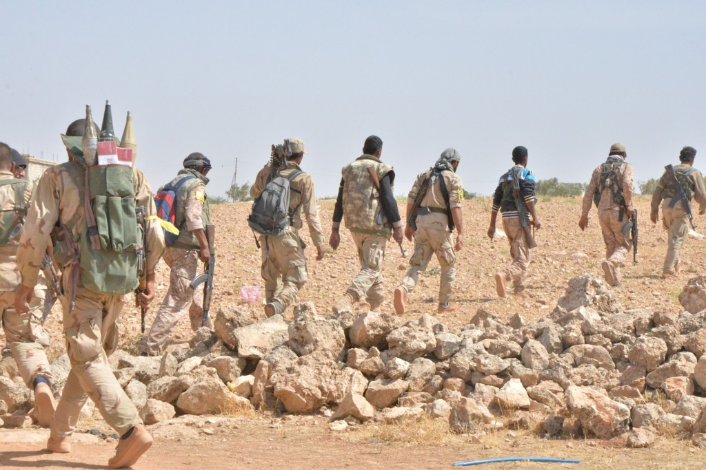 SDF forces on their way to Manbij. Photo: ANHA. Under copyright. Used with permission.